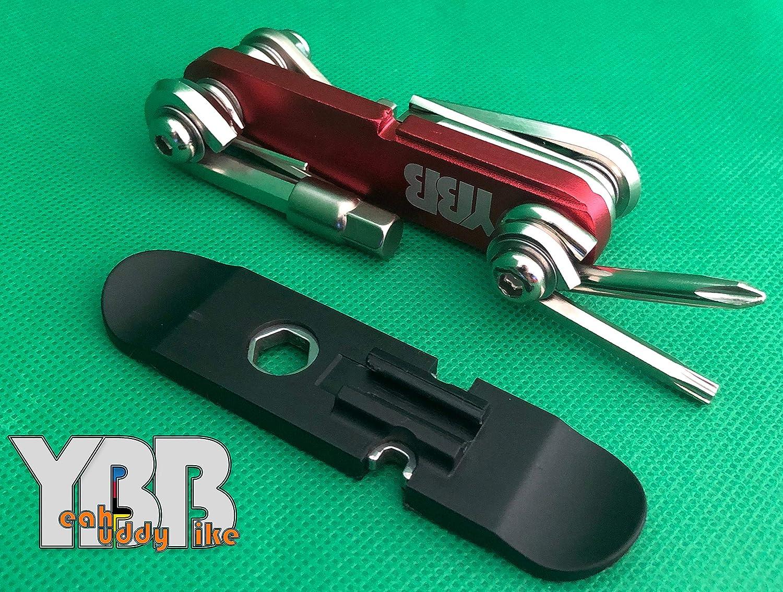 Screwdriver Super Multi Tool 15 in 1 : Hex Keys Spoke Wrench Tyre Lever Yeah Buddy Bike YBB Chain Tool