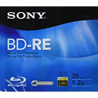 Sony Bne25Av Disco BLU-Ray Regrabable, BD-Re, 25 GB