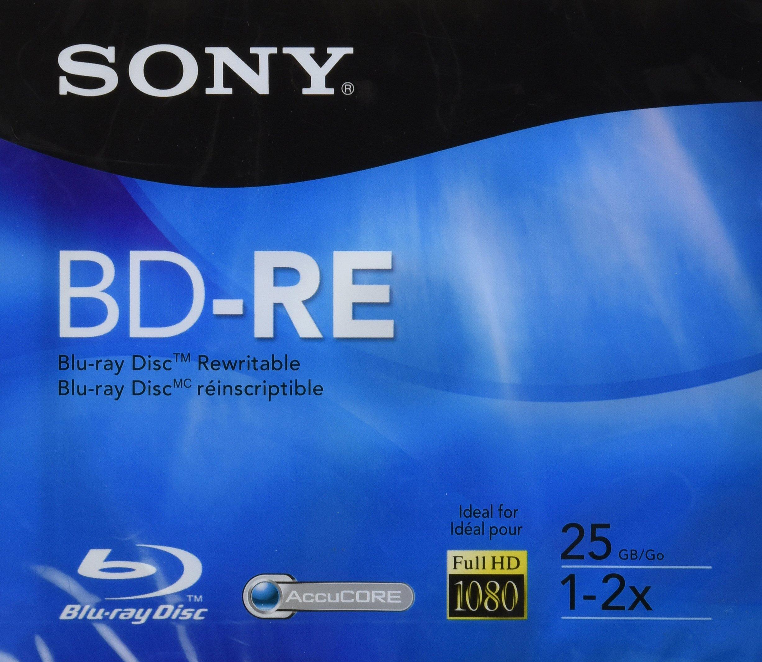 Sony BD-RE Rewritable Single Layer Disc - 25gb, 2X