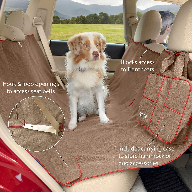 Kurgo K01597 Auto Sitzbezüge Für Hunde Wasserfeste Hundedecke Auto Rückbank Verfügbar In Erika Muskatnuss Farbe 1315 G Haustier