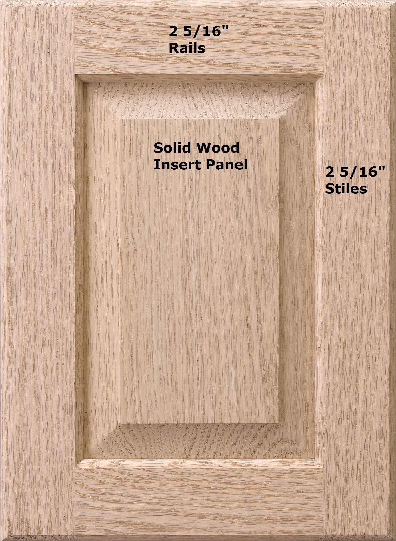 Cabinet Doors 'N' More 16'' X 22'' Unfinished Red Oak Raised Square Panel Kitchen Cabinet Door