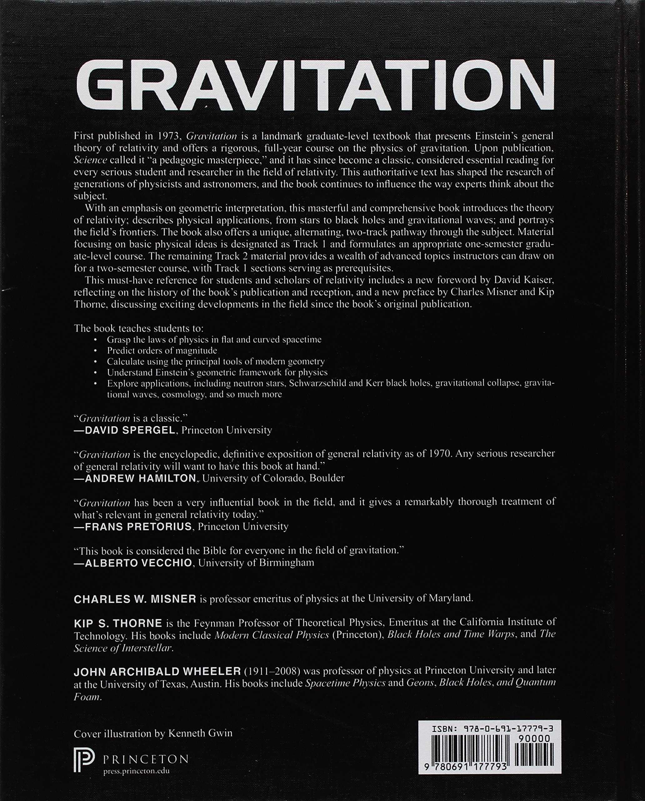 Gravitation: Charles W. Misner, Kip S. Thorne, John Archibald Wheeler,  David I. Kaiser: 9780691177793: Amazon.com: Books