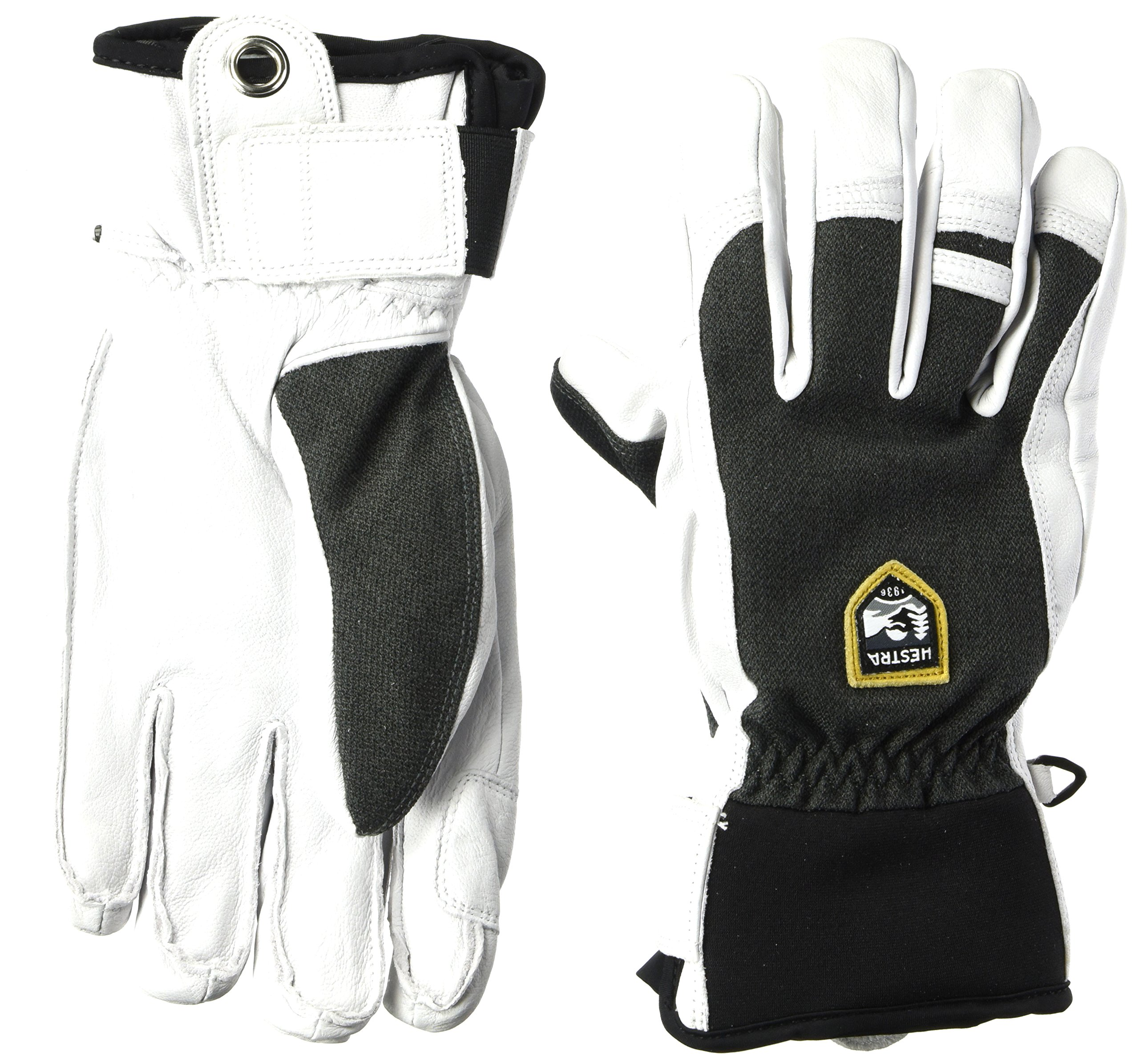 Hestra Ski Gloves: Army Leather Patrol Winter Cold Weather Gloves, Charcoal, 11