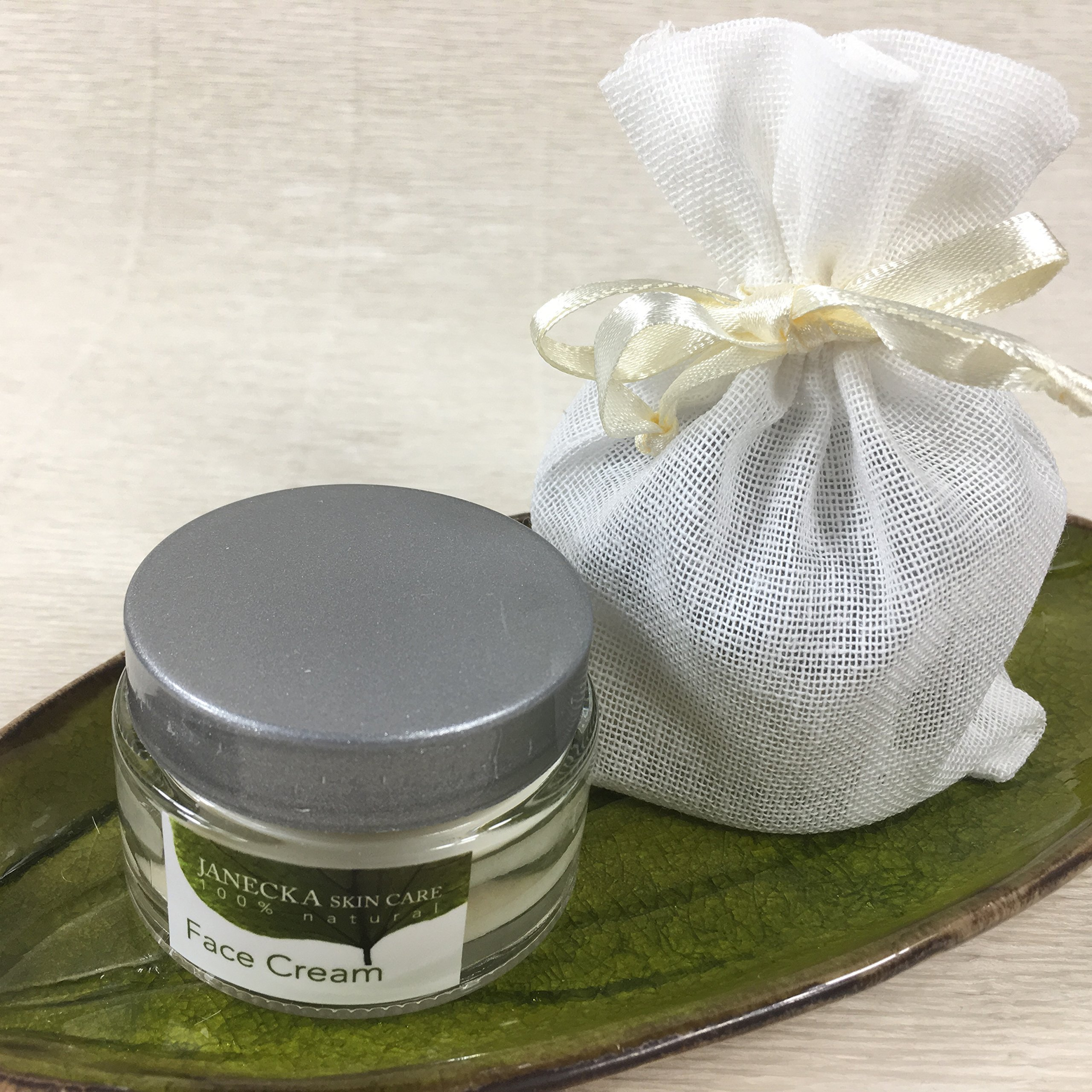 JANECKA Face Cream (2-1 oz Jars) Natural Ingredients - Concentrated Formula - Cocoa Butter - Shea Butter - Coconut Oil