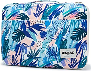 """Kinmac 360° Protective 13 inch-13.5 inch Waterproof Laptop Case Bag Sleeve with Handle for 13.3"""" MacBook Air   13"""" MacBook Pro Retina and 13.3 inch 13.5 inch Laptop (Sea Grass)"""