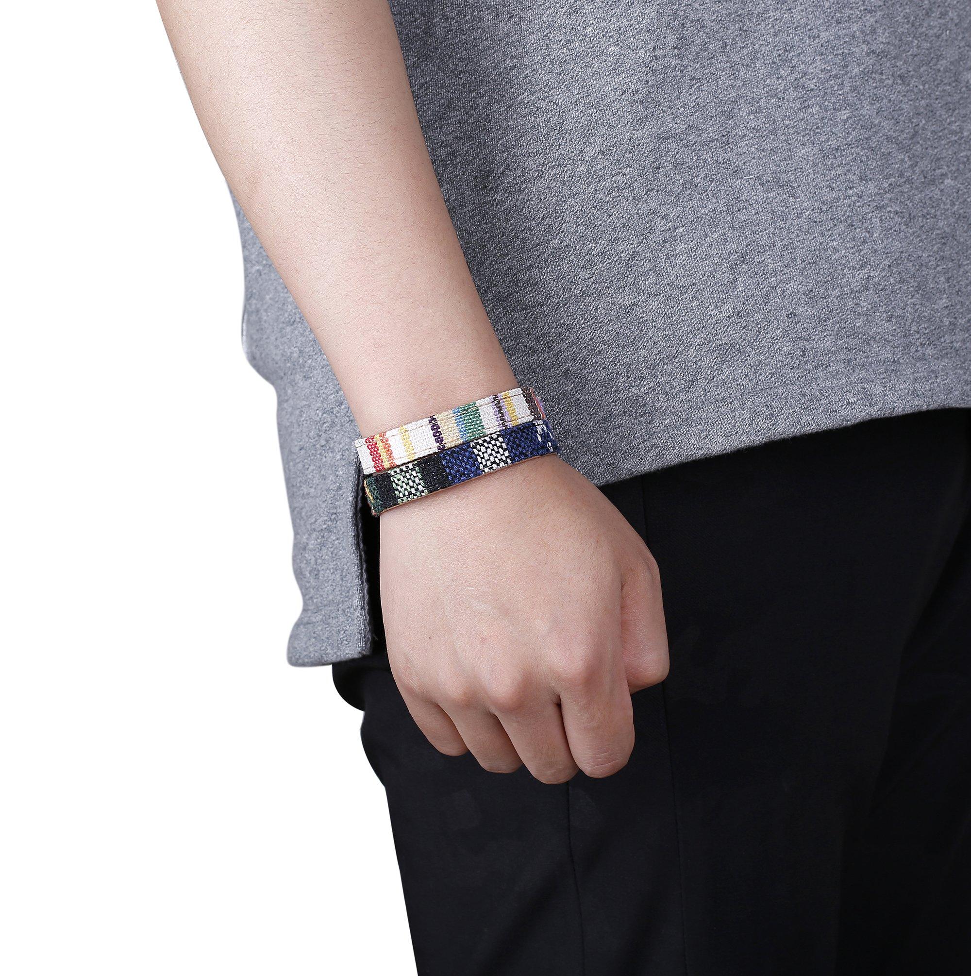 Jstyle 6-12Pcs Wrap Bracelets for Women Men Hemp Cords Ethnic Tribal Bracelet Wooden Beads Leather Bracelets Wristbands by Jstyle (Image #5)