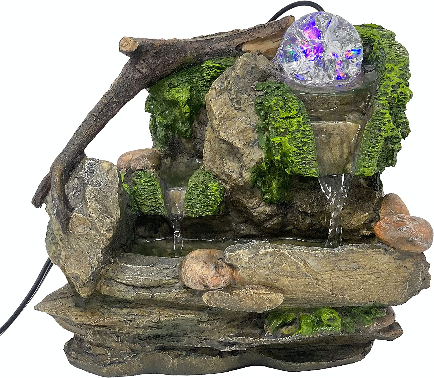 ImagiWonder Tabletop Fountain Natures Rocky Waterfall