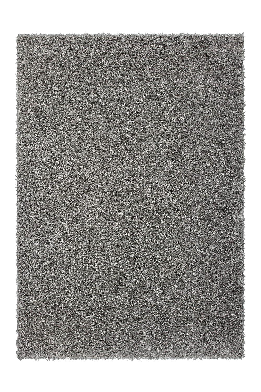 Lalee  347120239  Hochflor Shaggy Teppich   Langflor   Uni   TOP Preis   Silber   Grösse   160 x 230 cm