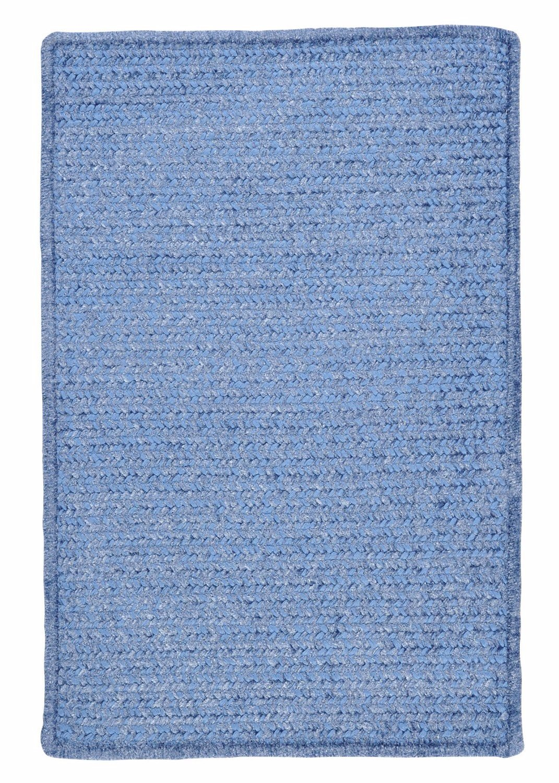 Ambiant Petal Blue Chair Pad M501 Kids / Teen Blue 15''X15'' (SET 4) - Area Rug