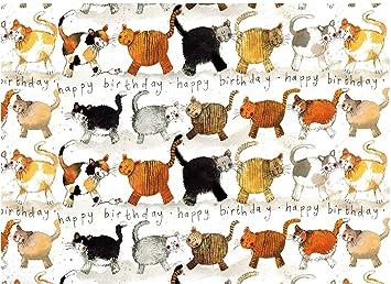 amazon com alex clark art cats happy birthday gift wrapping paper 2