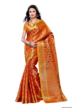 4423518570 Mimosa Women's Silk Saree With Blouse Piece (164-Org,Orange,Free Size):  Amazon.in: Clothing & Accessories