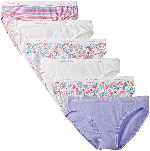 3da959bd75d6 Fruit of the Loom Women's 6-Pack Cotton Bikini Panties, Assorted, 9 ...