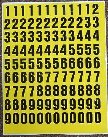 Amazon.com: Pegar en letras de vinilo, números solamente ...