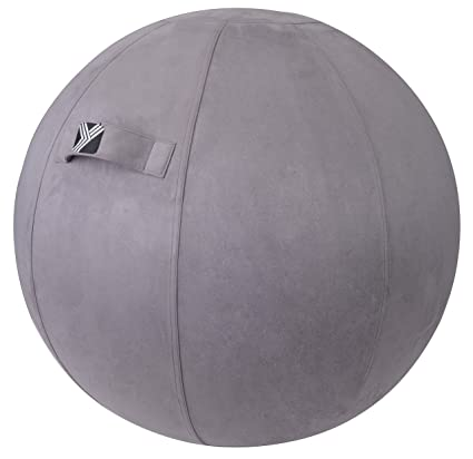 Prime Yogivo Exercise Ball Chair For Home Office Yoga Stability And Fitness Sitting Ball With Pump And Handle Home Interior And Landscaping Ponolsignezvosmurscom