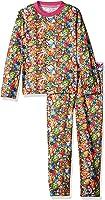 Intimo Big Girls' Shopkins Bunch Print L/s Top and Pant Base Layer Set