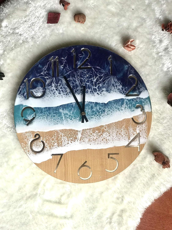Amazon.com Ocean Wall Clock Resin Art 12'' 12 cm diameter, Wall ...