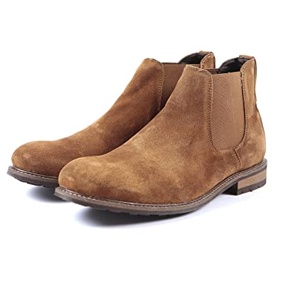 9f2683d44 Mens Suede Leather Chelsea Ankle Boots- Handmade Leather Sole (UK 10 EU 44,