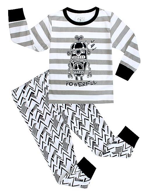Boys pijama pijamas de robot 2 piezas para niños conjuntos de ropa para niños tamaño 2t