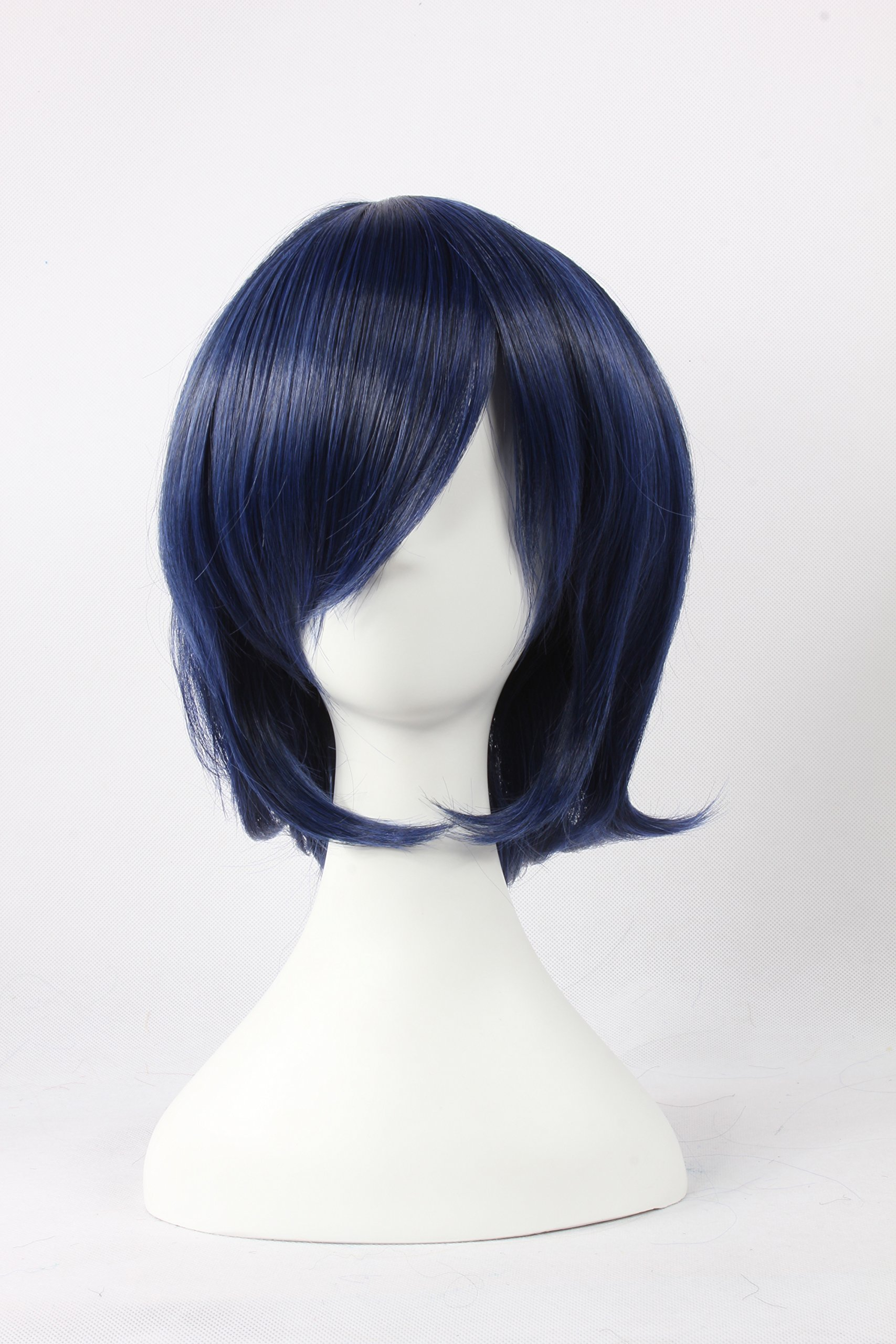 Coolsky Wigs GurrenLagann ,The Prince of Tennis ,SAILOR MOON Mix Dark Blue Hair Cosplay