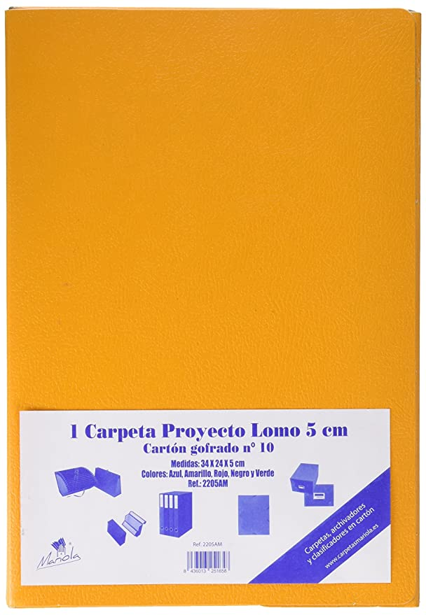 Amazon.com : mariola-22052-coffret Reinforced Cardboard with Elastic L50 mm Yellow : Office Products