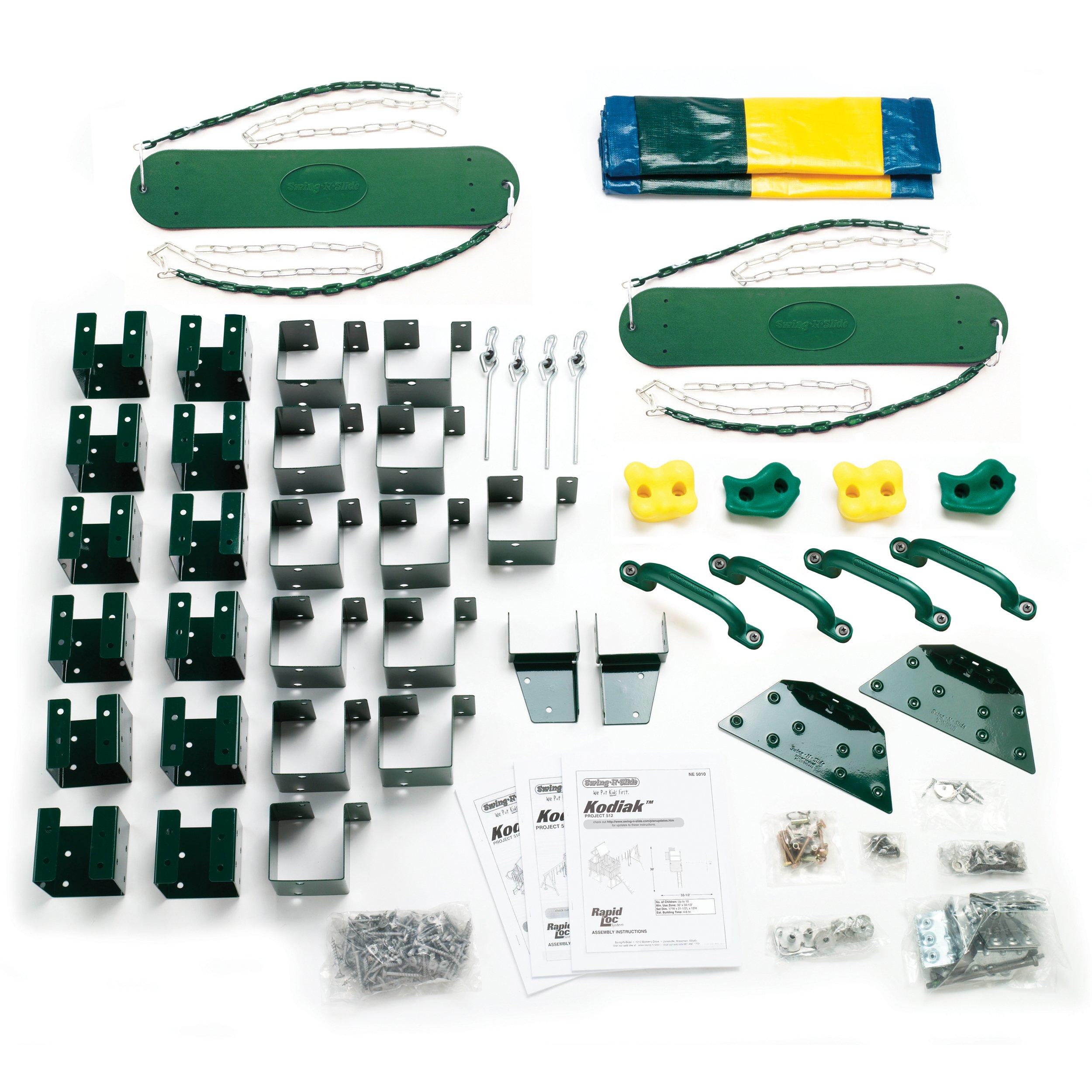 Kodiak Custom Play Set Hardware Kit (wood not included) by Swing-N-Slide