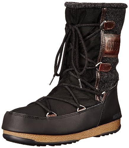 9ae57b3074fd30 Moon Boot Damen Stiefel Vienna Felt 24004400-002 schwarz 382020 ...
