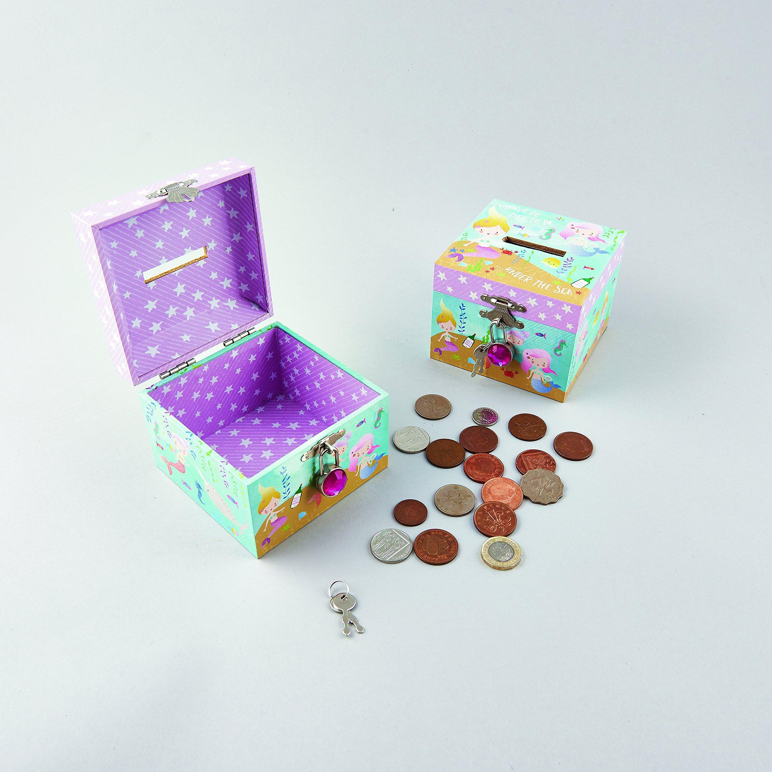 Floss & Rock Lockable Mermaid Money Box