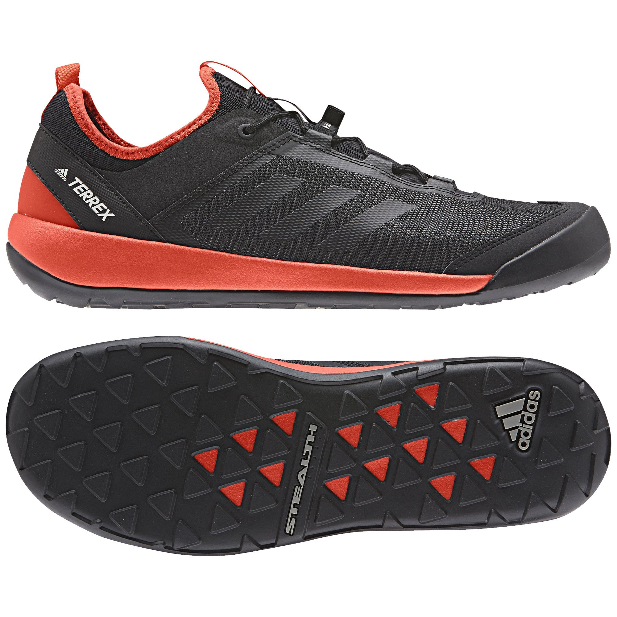 adidas Men Terrex Swift Solo Outdoor Shoes, Black/Black/Energy 11.5