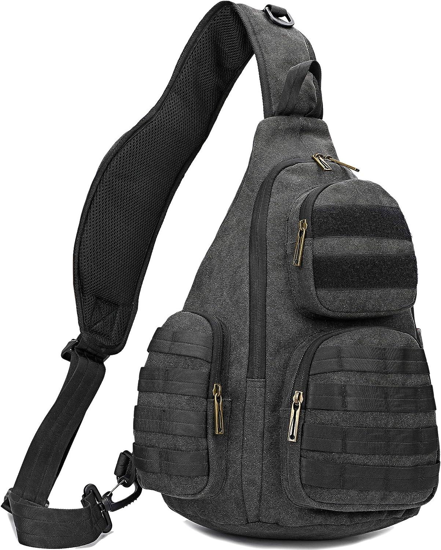 """13/"""" Laptop Canvas Messenger Shoulder Bag Sling Chest Pack Crossbody Backpack"""