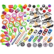 Smart Novelty Party Favor Toy Prizes Assortment of 101 Fun Toys Items. Great Pack for School Classroom Rewards Box, Carnivals, Party Favors Bag, Grab Bag, and Kids Events. Made and Sold Exclusively