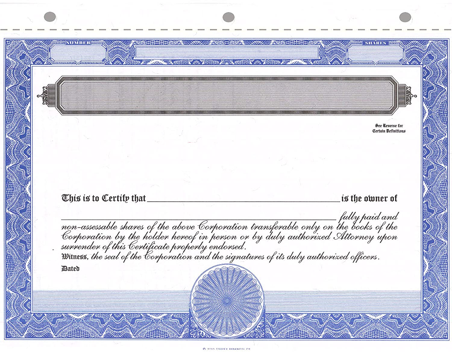 Amazon Corpex Blank Stock Certificates Pack Of 25 Office