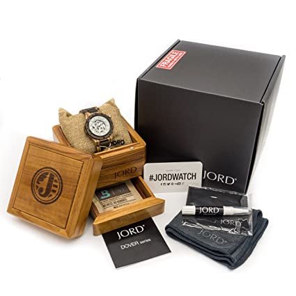 Amazon.com: JORD Wooden Watches for Men - Dover Series Skeleton Automatic/Wood Watch Band/Wood Bezel/Self Winding Movement - Includes Wood Watch Box ...