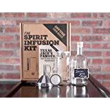 """The SPIRIT INFUSION KIT - Infuse Your Booze with 70 + Homemade Small-Batch Flavored Vodka Recipes. Become an Infused Alcohol Cocktail Mixologist with """"How To Infuse Vodka"""" Recipe and Instruction Book"""