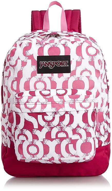 Amazon.com: JanSport Superbreak Cyber de etiqueta rosa y ...