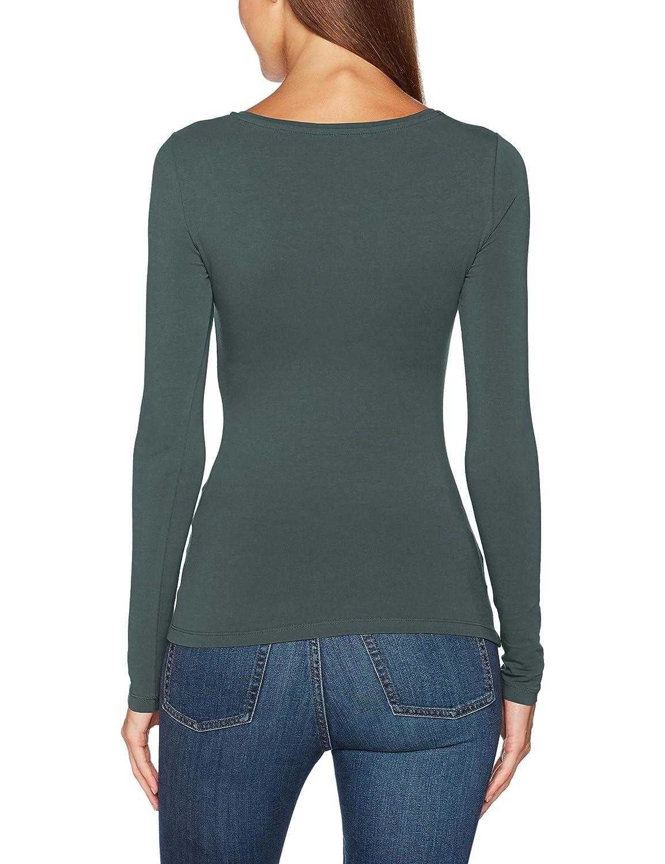 Vero Moda Vmmaxi My LS Soft Short U-Neck Ga Camisa Manga Larga para Mujer