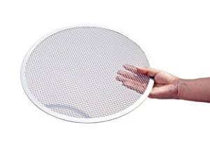 New Star Foodservice 50684 Seamless Aluminum Pizza Screen, Commercial Grade, 14-Inch