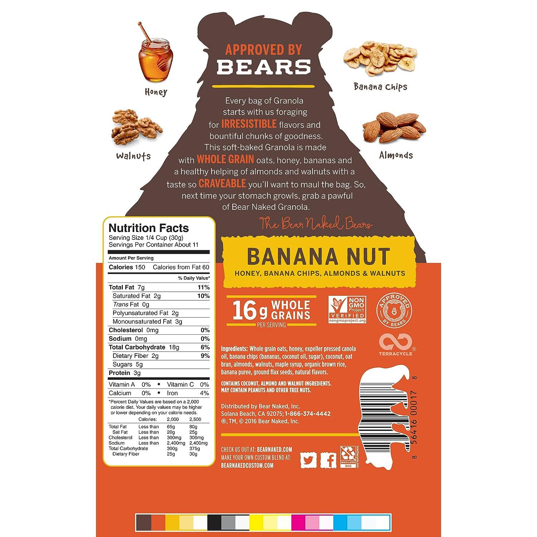 Bear Naked 100% Natural Granola – Banana Nut – 12 oz: Amazon ...