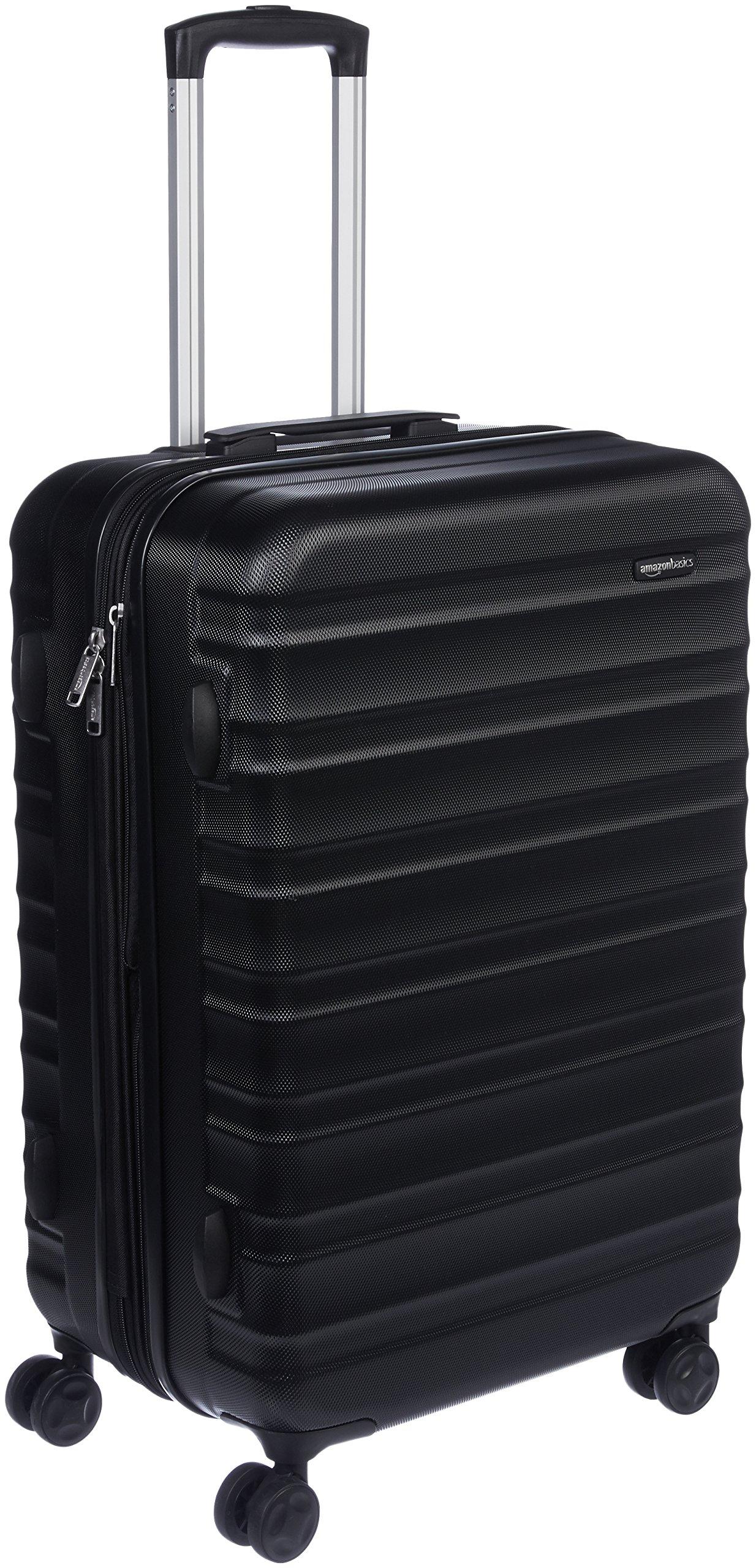 AmazonBasics Hardside Spinner Travel Luggage Suitcase - 24 Inch, Black by AmazonBasics