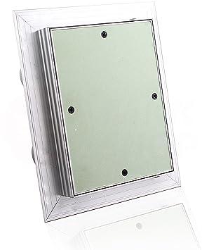 200 x 500 mm Revisionsklappe GK-Einlage gr/ün 25 mm Gipskarton Revisionst/ür Wartungst/ür Alu 6