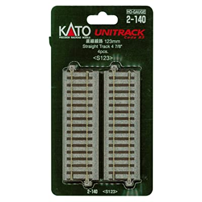 "Kato KAT2140 HO 123mm 4-7/8"" Straight (4): Toys & Games"