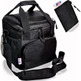 Insulated Lunch Bag - USA Sales Group Lunch Bag Nylon, Soft Cooler Bag For Work, Men Women Adults , Stiff Bottom, With Best 2 Way Zipper Closures, Adjustable Shoulder Strap – Bonus Key Case & e-Book