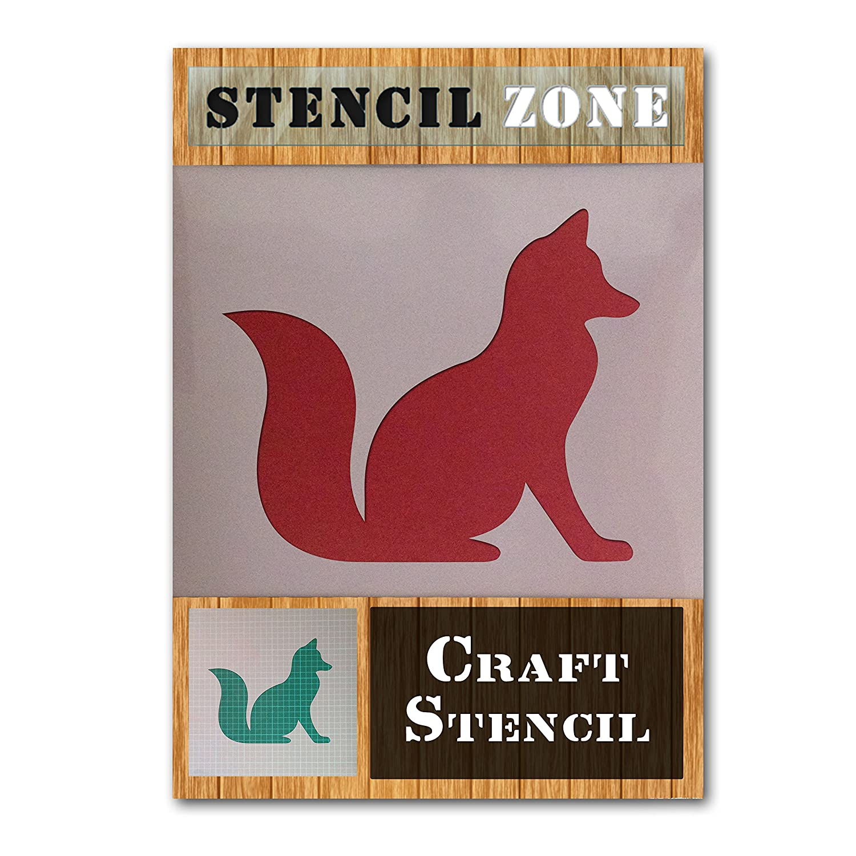 Fox Wild Animal Sitting Mylar Airbrush Painting Wall Art Crafts Stencil 1 (A1 Size Stencil - Xlarge) STENCIL ZONE