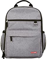 Skip Hop Duo Signature Carry All Travel Diaper Bag Backpack with Multipockets, One Size, Heather Grey