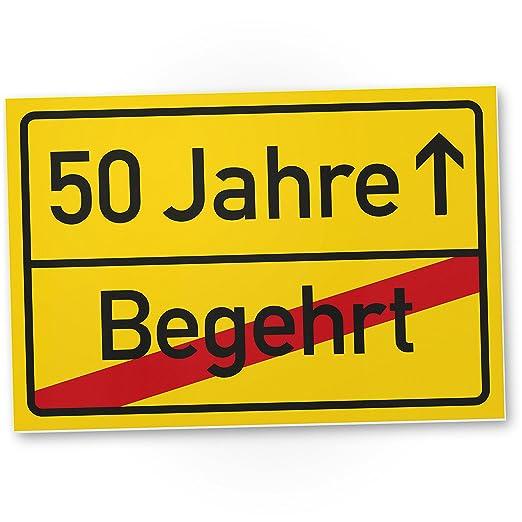 DankeDir!. 50 años (ajeno) plástico ortssschild - Letrero ...