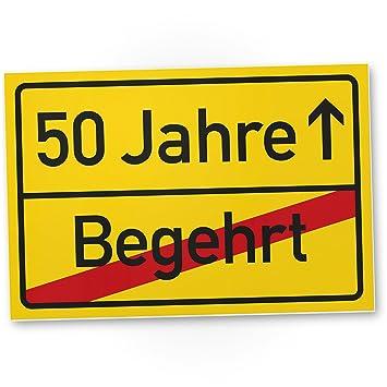 Dankedir 50 Jahre Begehrt Kunststoff Schild Ortssschild