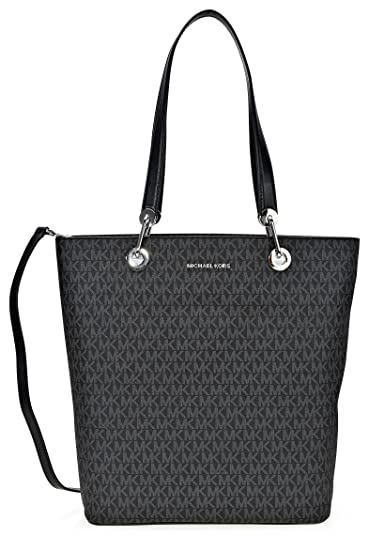 8f9f1eaa6e8db3 Amazon.com: Michael Kors Raven Ladies Large Signature Twill Black Tote  30S7SRXT3V001: Shoes