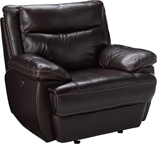 Coaster MacPherson Casual Brown Power Recliner with Built-In USB Charging Port