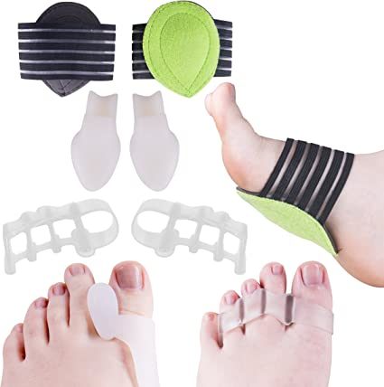 Amazon.com: Fascitis Plantar Terapia Wrap, Gel Toe Separador ...
