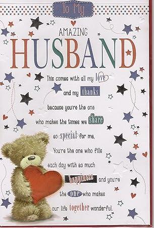 Husband Birthday Card Amazing Husband Card Love And Thanks