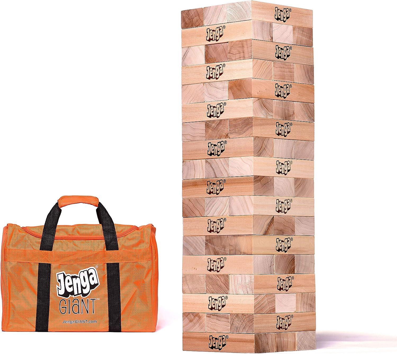 Jenga game and bag.